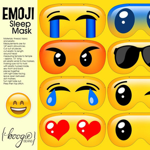 emoji sleep masks