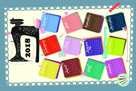 2018_Year of the Crafty fabric by kfrogb on Spoonflower - custom fabric