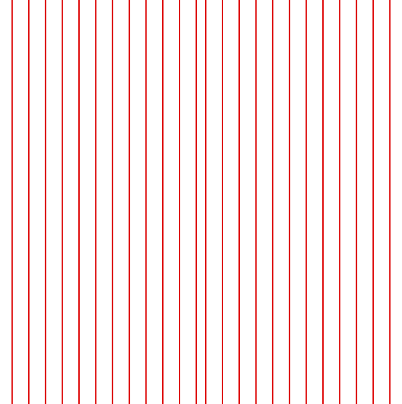 White and Red Vertical Pinstripes