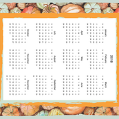 Pumpkin tea towel calendar