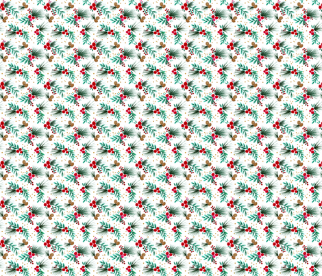 holiday_Berries_Small fabric by crystal_walen on Spoonflower - custom fabric