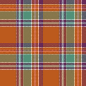 "Birral / Burrell tartan, 4"" asymmetrical ancient"