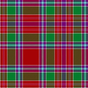 "Birral / Burell tartan, 6"" symmetrical modern colors"