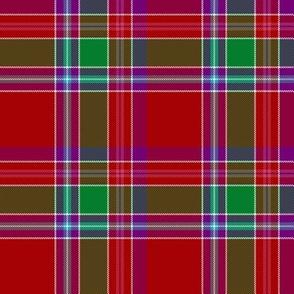 "Birral / Burrell tartan, 4"" asymmetrical modern colors"