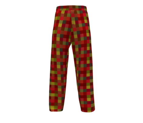 cadmium red olive green-plaid