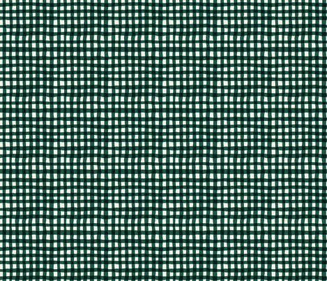 green gingham fabric by crystal_walen on Spoonflower - custom fabric