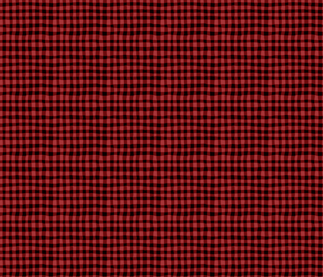 red gingham fabric by crystal_walen on Spoonflower - custom fabric