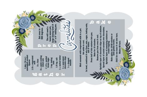 Carmelitas Recipe Tea Towel fabric by cillacrews on Spoonflower - custom fabric