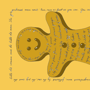 Gingerbread man Tea towel recipe