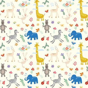 Wild Animals & Flowers - 4in (bright)