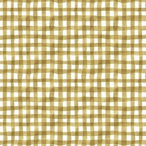 gold gingham