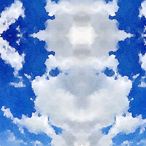 Cloudy Day Ikat 1 fabric by susaninparis on Spoonflower - custom fabric