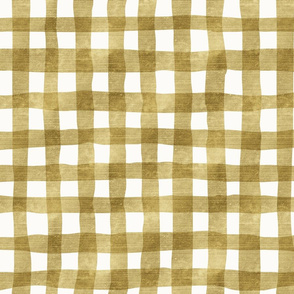 gold plaid