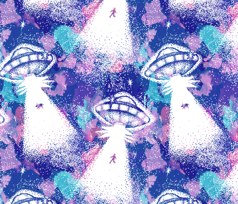 Abduction! - Galaxy fabric by electrogiraffe on Spoonflower - custom fabric
