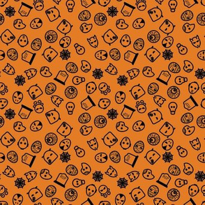 Halloween Ghoulies - 4in (orange black)