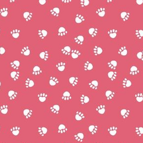 paws print - pink