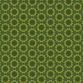 Dandelion Green Floral Photo Pattern Print