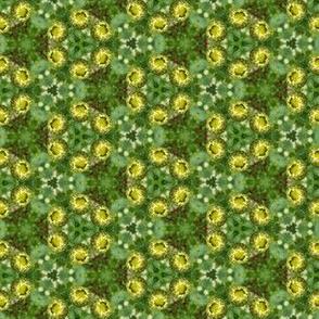 Green Flower Bud Floral Photo Pattern Print