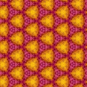 Magenta and Orange Floral Photo Pattern