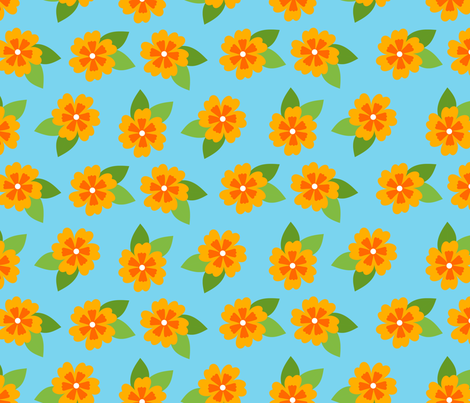 Maya_Floral fabric by annieswift on Spoonflower - custom fabric