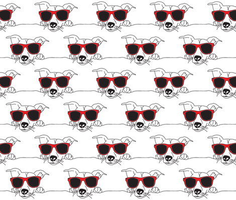dog_with_sunglasses fabric by sandra_hutter_designs on Spoonflower - custom fabric