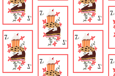 Deck of Pastries  fabric by samantha_gadget on Spoonflower - custom fabric