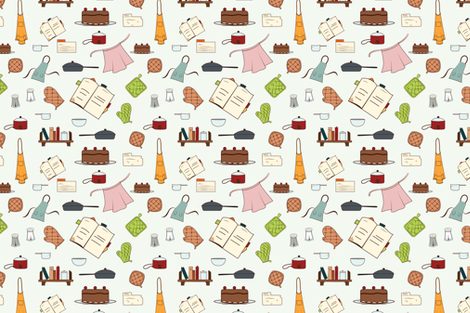 Cooking fabric by svaeth on Spoonflower - custom fabric