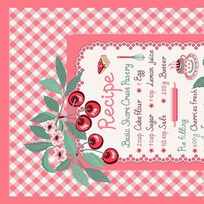 Cherry pie teatowel