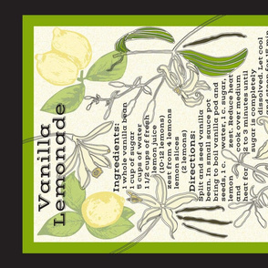 Vanilla Lemonade Recipe Tea Towel