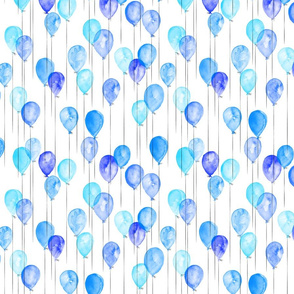 (small scale) blue watercolor balloons