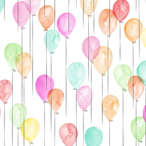 watercolor balloons in multi