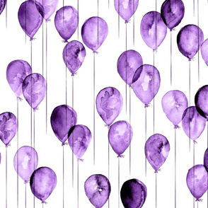 purple watercolor balloons