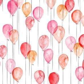 multicolored watercolor balloons