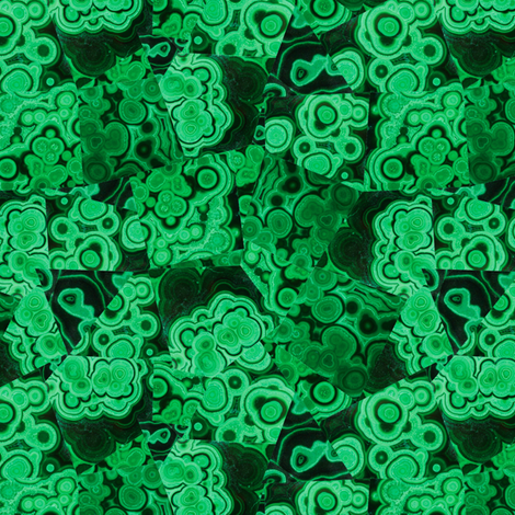 Malachite Puzzle Piece Tiles fabric by elliottdesignfactory on Spoonflower - custom fabric