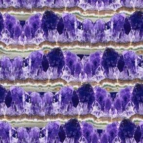 Purple Amethyst Geode Mountains