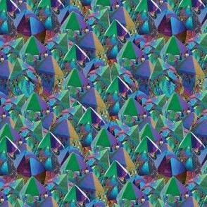 Crystal Shards in Oil Slick Rainbow Aura