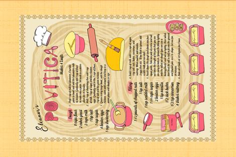 Family Recipe Povitica Bread fabric by palifino on Spoonflower - custom fabric