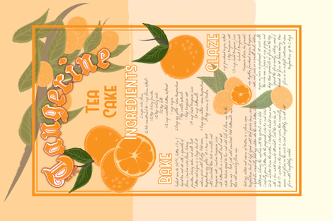 Tangerine Tea Cake fabric by sowilofir on Spoonflower - custom fabric
