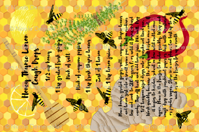 Honey Thyme Lemon Cough Drops