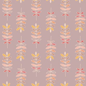 Wheat pattern with pale pink grey background.