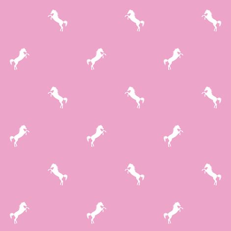 Horsey_pink fabric by kasumidesign on Spoonflower - custom fabric