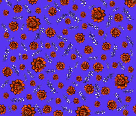 Artichokes on blue fabric by anastasia_buchinskaya on Spoonflower - custom fabric