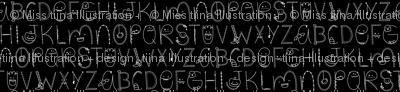 doodle alphabet white and black :: halloween