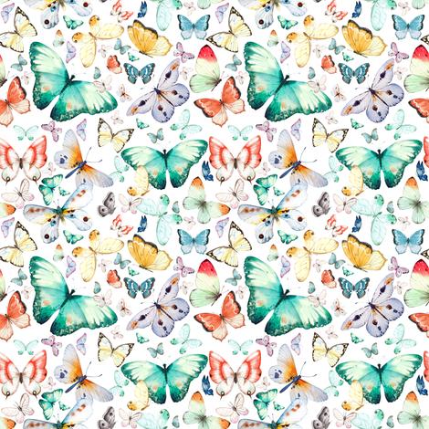 "4"" Butterfly Dreams fabric by shopcabin on Spoonflower - custom fabric"