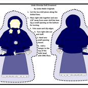 Victorian Ladies Linda Cut and Sew Doll Ornament Fabric Collection