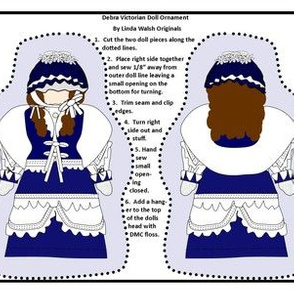 Victorian Ladies Debra Cut and Sew Doll Ornament Fabric Collection