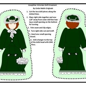 Victorian Ladies Josephine Cut and Sew Doll Ornament Fabric Collection