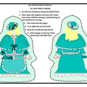 Victorian Ladies Joy Cut and Sew Doll Ornament Fabric Collection