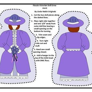 Victorian Ladies Flossie Cut and Sew Doll Ornament Fabric Collection