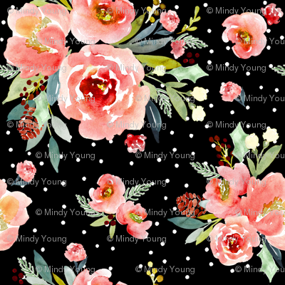 Indy bloom design Christmas Snowberry Rose